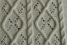 Knitting Stitches - Cable and Eyelet
