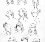 Horn/Hair reference / A collection of art references to generate horn or hair ideas