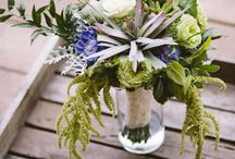 Wedding: Vintage at the Vineyard / Stunning shades of lavender with a pop of chartreuse create vintage elegance.