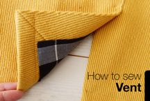 how to sew vents in garments