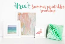 Free Printables / Free printable art for home or tech. Printable wall art, desktop backgrounds, cards, anything that's a free printable artwork.