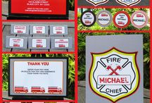 Joshua's 4th birthday / Ideas for a fireman birthday party