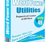 Word Power Utilities / #Professional and #Powerful utility for Microsoft Word to reduce manual effort. Word Power Utilities is a Time and Money saving utility for Microsoft Word.