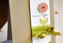 Cards...Floral Stamped, Cut and Popped
