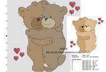 Teddy bears free cross stitch patterns / Teddy bears free cross stitch patterns