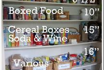 Pantry ideas for organization / by Andie Langston