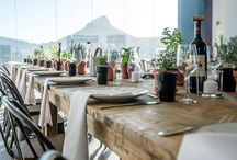 Lunch with Renior /  A fresh and simple lunch set up inspired by Renior's Boat Party. The key ingredients are fresh herb pots on the table for a aromatic experience and an abundance of red wine of course!  Photo: NK Photography