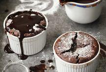 Food / Chocolate Souffle Recipe with Chocolate-Coffee Sauce