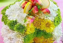 Torte di fiori / Decorare le proprie nozze con centrotavola originali: le torte di fiori
