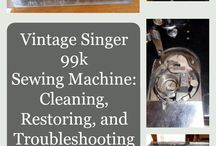 The Iconic Singer 99k / History, pictures, information and interesting finds about this iconic sewing machine!