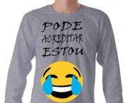 Camisetas Emojis Com Frases / camiseta algodão com variedades de tamanhos, modelos e cores