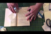 Decorazione Ottenuta Piegando Pagine Di Un Libro