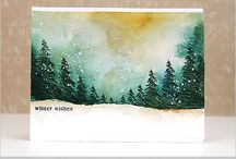 christmas cards watercolor