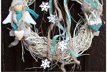 vánoční věnce / vánoce, věnce na dveře i stěnu  wreath, christmas