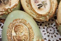 easter eggs degoupage