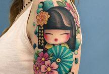 Kokeshi Dolls Tattoo