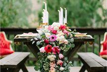 dekorace na stůl - svatební
