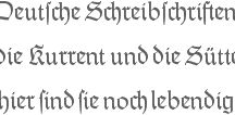 Kurrent/Sütterlin