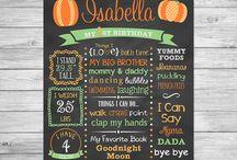 Lil Pumpkin Birthday Party / Lil Pumpkin Birthday Party Lil Pumpkin First Birthday Chalkboard Lil Pumpkin Birthday Theme Fall Themed Birthday Party