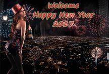 Girl Enjoy Welcome Happy New Year 2017 Wallpaper   Famous HD Wallpaper