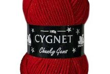 Cygnet Chunky Gems / Cygnet Chunky Gems has a very subtle metallic sparkle, which adds a touch of glamour and shine to any project.  PLEASE NOTE: This chunky yarn is slightly thinner than a standard one, so it is advisable to do a tension square first, to see if you need to use a smaller needle.  It is machine washable.