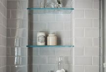 shelves in shower