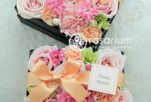 Поздравительные коробочки с цветами