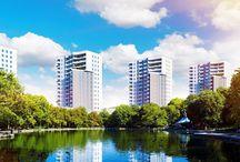 """4 Wieże - mieszkania w Katowicach w sąsiedztwie Parku Śląskiego / Inwestycja zlokalizowana jest po """"zielonej stronie miasta"""", naprzeciwko Wojewódzkiego Parku Śląskiego, z drugiej strony zaś na największym osiedlu w Katowicach zapewniającym jego mieszkańcom doskonale rozwinięta infrastrukturę z licznymi sklepami i punktami usługowymi."""
