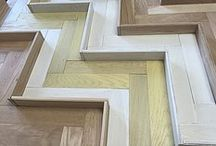3D Parquet wall cladding / 3D parquet herringbone for walls / by McKay Flooring