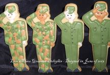 Decorated Cookies ~ Military