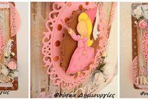 Handmade Photo Album ''Fairy Princess'' / Handmade photo album 30x30cm with handmade big box