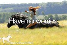 Horse Bucket List