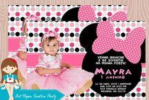 Convite da Minnie Rosa Festa de Aniversário