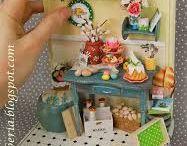 miniature scene bookends