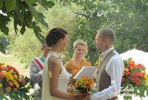Gleb+Irina's Wedding at a villa near Rome. / Cymbolic wedding ceremony & reception. www.zabelaweddings.it