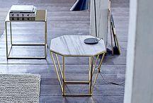 Marble in kitchen / #marble #kitchen #hubsch #normanncopenhagen #accesories #wood #gold #rosegold