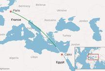 Χάθηκε από τα ραντάρ αεροπλάνο της EgyptAir με 66 επιβάτες που εκτελούσε την πτήση Παρίσι - Κάιρο