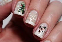 Christmas nails ⛄❄