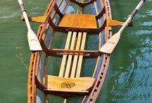 Łódka drewniana