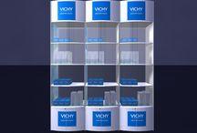 Loreal - Vichy - skrinky na kozmetiku / návrh a realizácia skrinky na kozmetiku do lekárni