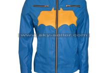 Batgirl Blue Costume Leather Jacket / Get this stylish Batgirl Blue Costume Leather Jacket at most affordable price from Sky-Seller and avail free shipping.