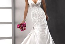 V Neck Design Wedding Dresses / by Roxanne Buffone