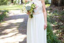 wedding: abby + robbie / Bohemian, geometric adornments, corals, succulents, artsy Florist: Gayla Harvey Photographer: Paige Winn Photo