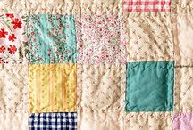 Quilt Vintage / Just love old quilts, the way they feel in my hands, how they fade into muted colors, how they remind me of the hands of my ancestors...wish I had some of my own.
