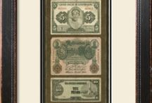 Frame bank notes