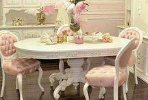 mesa ovalada shaby chic