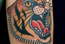 Tattoo / Traditional Tiger Tattoo
