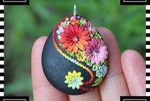 polymer clay emroidery