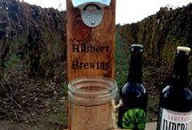 Rustic Beer Bottle Opener With Cap Catcher