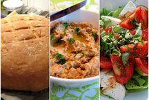 Leipä, paputahna, salaatti